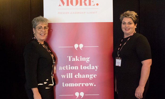 Glenda Parata and Rebecca Morris at the MORE. Summit 2017