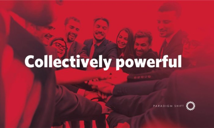 Collectively Powerful poster - Paradigm Shift