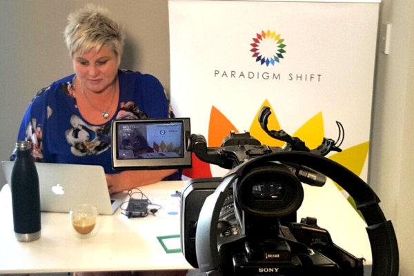 Rebecca Morris making video